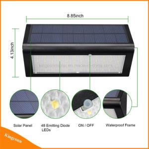 800lm 48LEDの屋外のレーダーセンサーランプの太陽庭の壁ライト