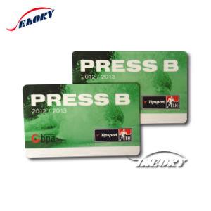 La impresión de cuatro colores de la tarjeta de plástico transparente/ tarjeta de membresía