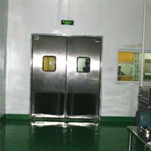 La puerta de acero inoxidable resistente al impacto de la puerta de oscilación de hoja doble