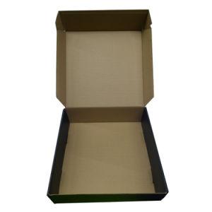 Venta caliente Negro Caja de cartón de embalaje personalizado para el correo
