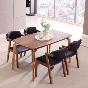 Modernos muebles de madera de madera juego de mesa de restaurante para el hogar