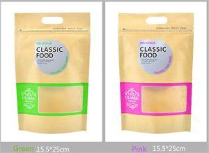 Яркие цвета Kraftpaper молнией сумку с окна