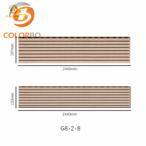 Eco Beschuss durch eigenen Truppen Proof Decorative Wooden Acoustic Panel für Wall Panel
