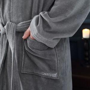 Col châle 100% coton Hôtel peignoir en velours avec broderie logo