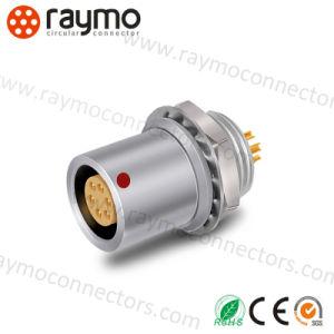 コネクターを受けとっている互換性のあるLemos Ehgの固定ソケット5pinの金属の円のプッシュプル自己