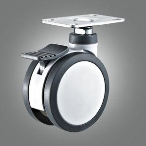 La plaque supérieure Wear-Resistant roues jumelées pivotantes médical