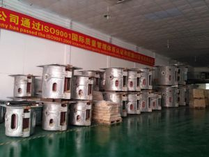 Forno di fusione industriale di induzione elettrica per acciaio inossidabile /Iron /Ferrous o non ferroso (GW-1T)