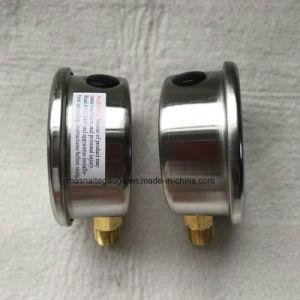 63mm manômetro inferior do manómetro de pressão de óleo inferior 7bar 100PSI