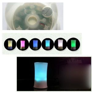 Difusor de aceites esenciales para la lámpara de escritorio de ultrasonidos de función