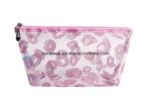 安い透過ゆとりPVC装飾的な袋のジッパーの構成袋の袋