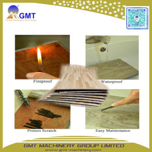 Piso de vinilo de PVC 100% impermeable resistente al desgaste de la hoja de suelos Spc maquinaria de producción de extrusión