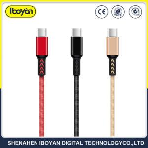 Tipo-c cavo di processo 2.4A di doratura elettrolitica del telefono mobile del caricatore del USB di dati