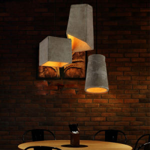Design de Interiores Vintage Pendente de Concreto Iluminação Decorativa