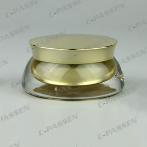 装飾的な包装のための金のアクリルの瓶のプラスチック瓶