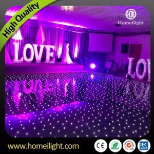 Acrílico resistente al agua baile Estrellado LED iluminado por las estrellas centelleantes pista de baile para la boda