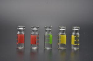 1mlはこはく色の管状のガラスガラスびん取り除き、