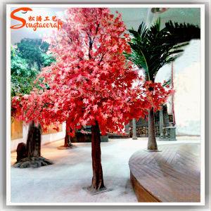 Venda por grosso Red Maple Bonsai Jardim Artificial decorativas Maple Tree