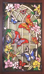 Panel de Tiffany y ventana 860