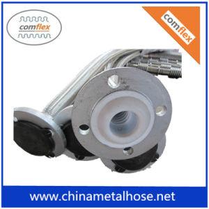 Tubo flessibile del metallo flessibile dell'acciaio inossidabile PTFE con intrecciatura e la flangia