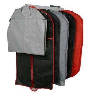 Poliéster gris cubierta reutilizable bolsa de ropa