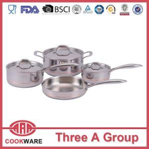 ligne de cuivre réglée bac de cuivre à plusieurs fils de batterie de cuisine de cuivre du faisceau 5ply de batterie de cuisine