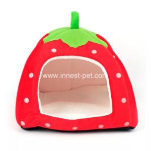 Клубничный для использования внутри помещений ПЭТ-кровать собака кошка домов в различных размеров