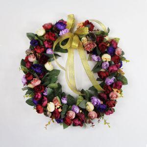 Corona d'attaccatura artificiale della Rosa del giardino della ghirlanda del portello del nuovo prodotto 2017