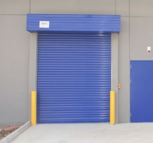 기지철거 롤러 셔터 안전 차고 문이 산업 외부 상업적인 강철 알루미늄 금속 창고 힘 자동적인 머리 위 감기는 회전에 의하여 위로 구른다