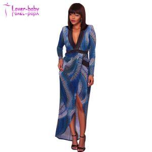 Alessia Multi-Color Semi-Sheer Bodysuit Vestido azul