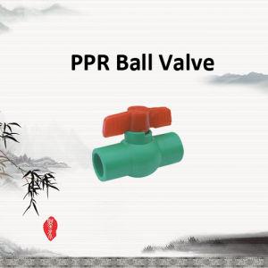 Valvola a sfera di PPR per il rifornimento dell'acqua calda fredda e