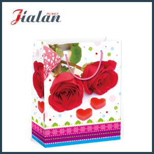 발렌타인 데이 꽃 디자인 선물 패킹 물색 종이 봉지