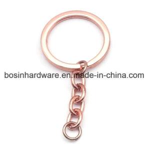 로즈 금에 의하여 도금되는 쪼개지는 열쇠 고리
