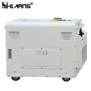 generatore domestico silenzioso di uso di colore d'argento 6kw (DG8500SE)