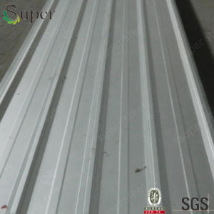 着色された電流を通された側面図を描かれた鋼鉄屋根ふき材料の波形の形