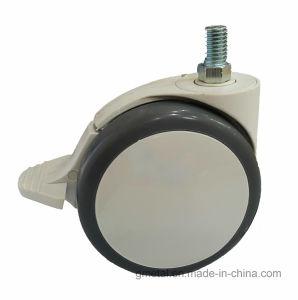 Tige filetée PU/PA Roulette à double roue