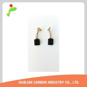 L'asphalte brosse les dents de la Mouture de carbone/petites étincelles balais de charbon pour moteur c.c. 12V 5000tr/min/balai de charbon pour moteur de sèche-cheveux