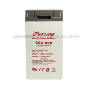 Cspower de ciclo profundo 600AH 2 VCC de batería solar Gel
