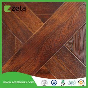 AC3 resistente al agua Suelos laminados en madera mosaico con alta HDF