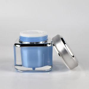 白いねじ帽子のアクリルの正方形の装飾的な包装のクリーム色の瓶