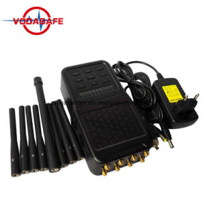 Portátil Hanheld más reciente de 8 canales de alta potencia celular 2G 3G 4G GSM señal CDMA Radio WiFi Jammer Lojack
