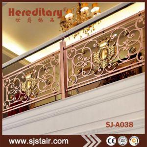 Corrimão da escada de luxo/Painel decorativo para o corrimão de PVC com certificação CE