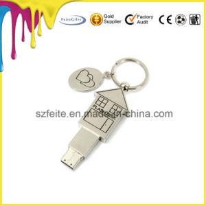 3Dデザイン金属の家の形USBのフラッシュ・メモリの棒