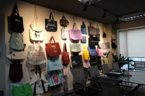 Lona de mulheres saco cosméticos (fly-CS-055)