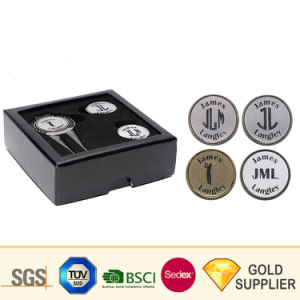 Metal personalizadas Grabe con láser de cobre del logotipo de la herramienta de tono Ballmarker Golf accesorio portátil plegable de acero inoxidable de reparación automática de Golf Set Divot horquilla con una caja de herramientas