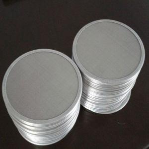 1 2 5 10 15 20 eingefaßt 25 Mikron-KreisEdelstahl-Filter Disc