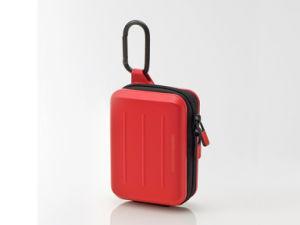 プラスチックシェルが付いている堅いケースのカメラの記憶の袋