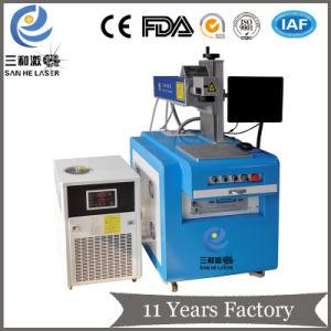음료 병 또는 플라스틱 또는 전화 상자 유리 또는 유문 생산을%s UV Laser 표하기 기계
