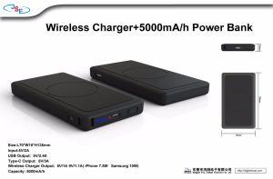 2018 новейшей конструкции 10W зарядное устройство беспроводной связи с 5000Ма/ч Банка питания