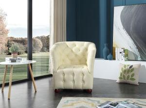居間の家具の革ソファーの椅子