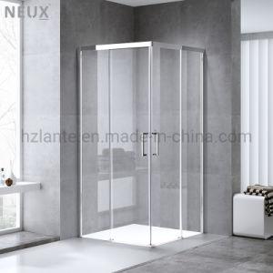 Certificação Ce Design Europeu Square Banho Deslizante cabina de duche com vidro endurecer (L5502-B)